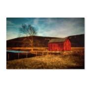 Trademark Fine Art LBR0281-C1219GG Red Barn at Twilight by Lois Bryan 12 x 19 Frameless Art