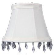Home Concept 5'' Classics Brass Bell Lamp Shade; Eggshell
