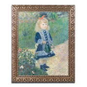 "Trademark Fine Art BL01308-G1620F ""A Girl With a Watering Can"" by Pierre-Auguste Renoir 20"" x 16"" Framed Art"