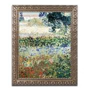 "Trademark Fine Art BL0492-G1620F ""Garden in Bloom"" by Vincent van Gogh 20"" x 16"" Framed Art"