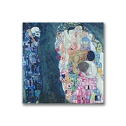 "Trademark Fine Art BL0404-C3535GG ""Death and Life"" by Gustav Klimt 35"" x 35"" Frameless Art"