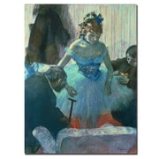 "Trademark Fine Art BL0102-C3547GG ""Dancer in her Dressing Room"" by Edgar Degas 47"" x 35"" Frameless Art"
