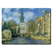 "Trademark Fine Art M226-C3547GG ""The Zuiderkerk at Amsterdam"" by Claude Monet 35"" x 47"" Frameless Art"