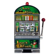 Trademark 10-41447 Luck of the Irish Slot Machine Bank, Green