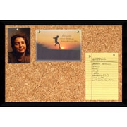 "Amanti Art Svelte Noir 13"" x 19"" Message Cork Board"