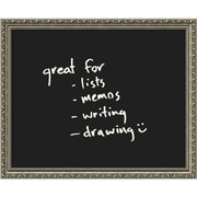 "Amanti Art Parisian 22"" x 18"" Silver Glass Dry-Erase Board (DSW1287077)"