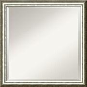 """Amanti Art SoHo DSW1290269 Wall Mirror 22.63""""H x 22.63""""W ,Silver"""