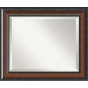 "Amanti Art Cyprus DSW1346410 Wall Mirror 20.75""H x 24.75""W, Walnut"