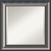 "Amanti Art Quicksilver DSW1355985 Wall Mirror 25.75""H x 25.75""W, Silver"