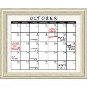 """Amanti Art, 26.38"""" H x 32.38"""" W, Damask Plexiglas Dry-Erase Board Calendar (DSW1356011)"""