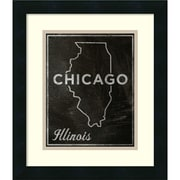 Amanti Art 'Chicago, Illinois' Framed Art Print