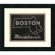Amanti Art 'Boston, Massachusetts' Framed Art Print