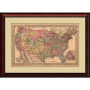 Amanti Art 'Map of the United States, 1867' Framed Art Print