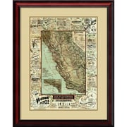 Amanti Art 'Map of California Roads for Cyclers, 1896' Framed Art Print