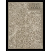 Amanti Art 'Blueprint Map Paris' Framed Art Print