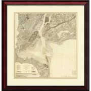 Amanti Art 'Bay and Harbor and The Environs, 1844' Framed Art Print