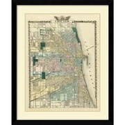 Amanti Art 'Map of the City of Chicago, 1876' Framed Art Print