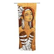 KESS InHouse Owl Feather Dress Curtain Panels (Set of 2)