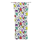 KESS InHouse My Happy Squares Curtain Panels (Set of 2)