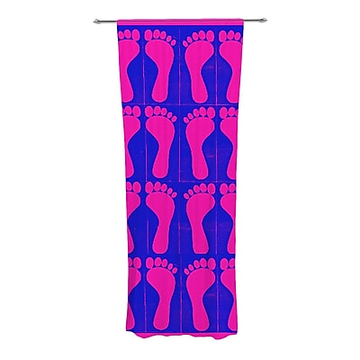 KESS InHouse Footprints Curtain Panels (Set of 2); Purple/Pink/Blue WYF078277545229