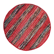 Ess Ess Exports Broadway Handmade Red Area Rug; Round 4'11''