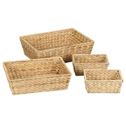 Household Essentials 4 Piece Banana Leaf Bowl Set