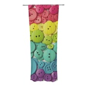 KESS InHouse Cute as a Button Curtain Panels (Set of 2)