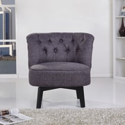 Gold Sparrow Raleigh Swivel Chair; Dark Gray