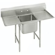 Advance Tabco T-9 Series 54'' x 27'' Single 1 Compartment Scullery Sink