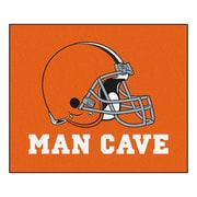 FANMATS NFL Cleveland Browns Man Cave Outdoor Area Rug; 5' x 6'
