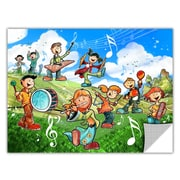 ArtWall ArtApeelz 'Music Kids' by Luis Peres Graphic Art Removable Wall Decal