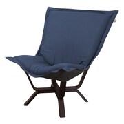 Howard Elliott Milan Sterling Puff Chair; Indigo