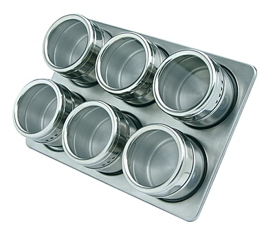 MASTRAD 7 Piece Magnetic Stainless Steel Spice