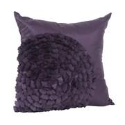 Saro Flower Throw Pillow; Eggplant
