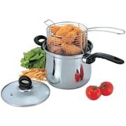 Culinary Edge 3-Piece Deep Frying Pan Set w/ Lid