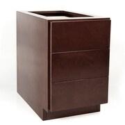 D'Vontz MDV Modular Cabinetry 3 Drawer Drawer Base Cabinet; Traditional Cherry