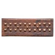 D'Vontz Checker Band 6'' x 2'' Copper Border Tile in Dark Copper