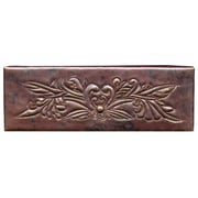 D'Vontz Bouquet 6'' x 2'' Copper Border Tile in Dark Copper