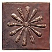D'Vontz Burst 4'' x 4'' Copper Tile in Dark Copper