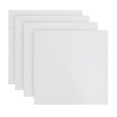 LaMont Home Harmony Placemat Set of 4 ; White