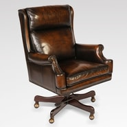 Lazzaro Leather Leather Office Chair with Arms