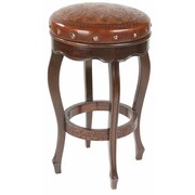 New World Trading Colonial 30'' Bar Stool with Cushion; Rustic