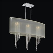 Glow Lighting Wavelength 4 Light Duo Mount Pendant; Swarovski Elements Clear Crystal