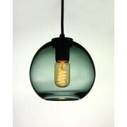 D'Fine Lighting Vintage 1 Light Globe Pendant; Gray