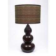 Fangio Chevron Ceramic 29'' H Table Lamp with Drum Shade