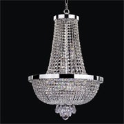 Glow Lighting Modern Time 9 Light Chandelier; Danube Clear Crystal