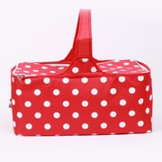 DEI Christmas Morning Insulated Dot Picnic Basket; Red