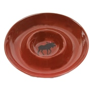 DEI Woodland River Stoneware Moose Chip and Dip Platter