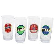 DEI 4 Piece Beer Sayings 20 Oz. Pint Glass Set
