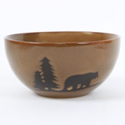 DEI Woodland River Bear Stoneware Bowl
